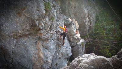 3 Nástup do Hias Klettersteig