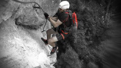 4 Ve stěně Hias Klettersteig