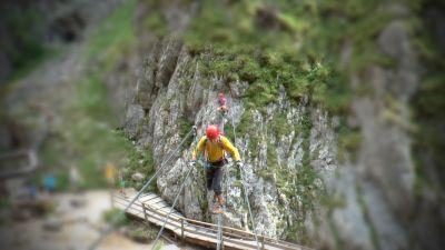 5 Nástup do Rosina Klettersteig