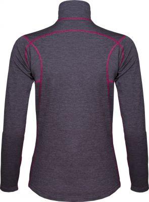 Woolion Merino Lady Sweatshirt antracit light grey zip