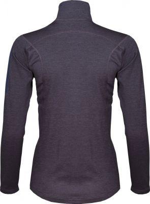 Woolion Merino Lady Sweatshirt antracit_cerise zip