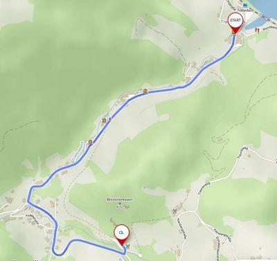 15) cesta z Trattenbach na parkoviště