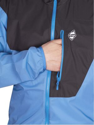 Helium Pertex Jacket swedish blue_black-detail kapsa