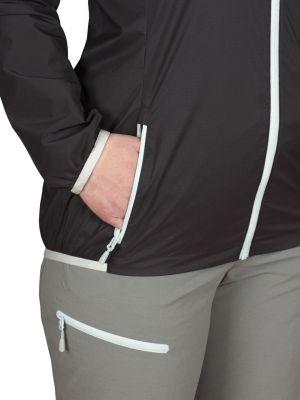 Helium Pertex Lady Jacket black silt green zip - detail kapsa