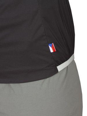 Helium Pertex Lady Jacket black silt green zip - detail vlajka
