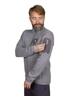 Skywool 5.0 sweater grey - detail kapsa rukáv