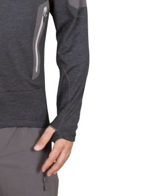 Woolion 2.0 Merino Sweatshirt antracit - oko na palec