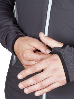 Merino Alpha Hoody Jacket black_antarcit - oko pro fixaci rukávů