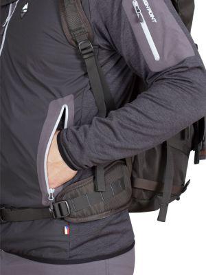 Merino Alpha Hoody Jacket black_antarcit - kapsa přístupná i s bederákem