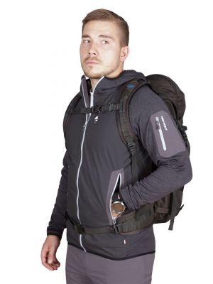 Merino Alpha Hoody Jacket black_antarcit - postava
