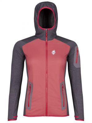 Merino Alpha Lady Hoody Jacket brick red_antracit