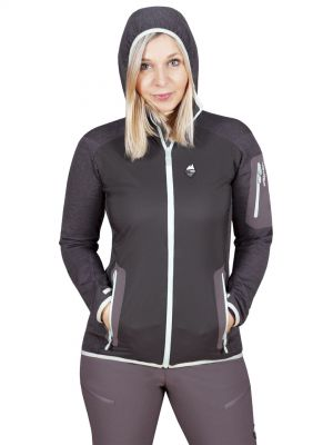 Merino Alpha Lady Hoody Jacket black_antracit - postava2
