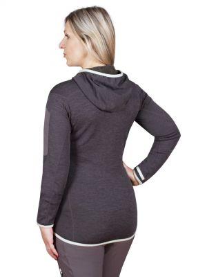 Merino Alpha Lady Hoody Jacket black_antracit - zadní pohled