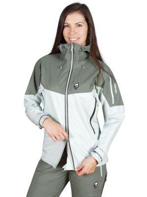 Explosion 5.0 Lady Jacket Silt Green_Laurel Khaki - možnost rozepnutí bundy od spodu.jpg