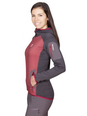 Merino Alpha Lady Hoody Jacket brick red_antracit-pohled z boku.jpg