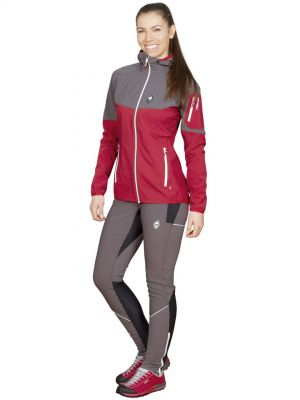 Atom Lady Hoody Jacket Brick Red-Iron Gate + Gale 3.0 Lady Pants