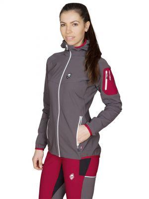 Atom Lady Hoody Jacket Iron Gate - modelka