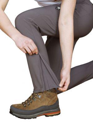 Atom Lady Pants Iron Gate - detail klín v spodní části nohavic