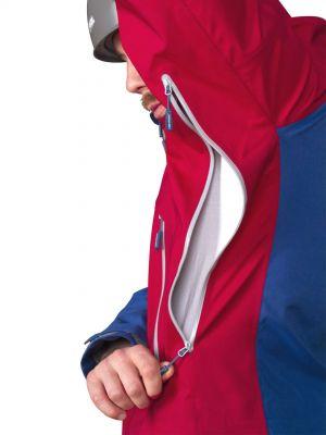 Radical 3,0 Jacket dark blue_dahlia red kapsa odvětrání v podpaží