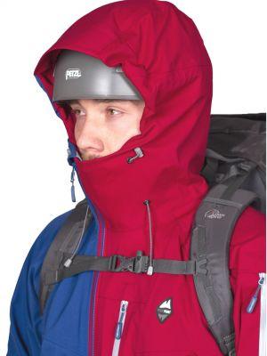 Radical 3,0 Jacket dark blue_dahlia red kapuce přizpůsobená pro použití s přilbou