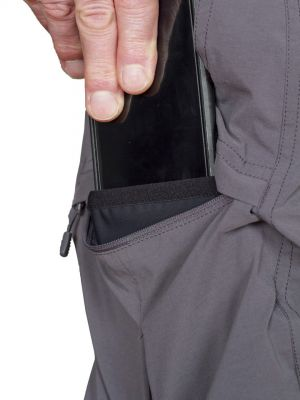 Saguaro 4.0 Pants Iron Gate - kapsička na mobil v pravé stehenní kapse