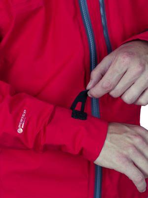 Cliff Jacket red - stažení manžety rukávu
