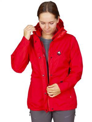 Montanus Lady Jacket red - zapínání bundy