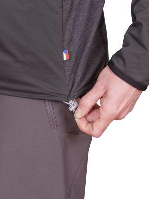 Total Alpha Jacket black - detail stažení spodního okraje bundy