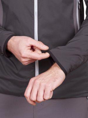 Total Alpha Jacket black - zakončení rukávu pružnou lemovkou