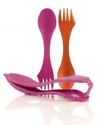 LMF Spork Case orange fuchsia