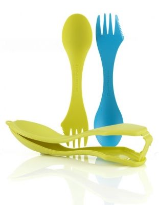 LMF Spork Case cyan blue/lime