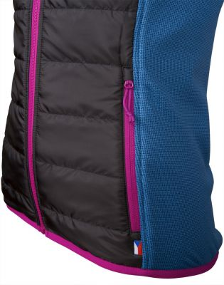 Flow 2.0 lady vest black-blue dateil