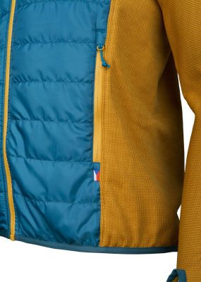 Flow 2.0 Jacket petrol_yellow detail kapsa