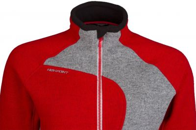 Skywool 3.0 Lady Sweater red-grey detail