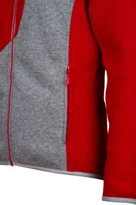 Skywool 3.0 Lady Sweater red-grey detail spodní kapsa