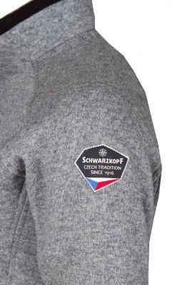 Skywool 3.0 Lady Sweater grey - detail našivka Schwarzkopf