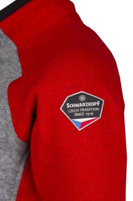 Skywool 3.0 LadySweater red-grey nášivka Schwarzkopf