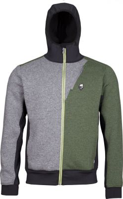 Woolcan 4.0 Hoody grey-fall green
