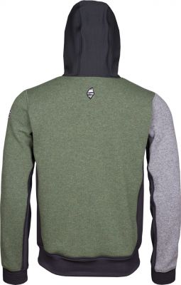 Woolcan 4.0 Hoody grey-fall green záda
