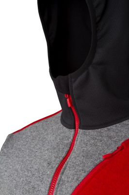 Woolcan 4.0 Hoody grey-red detail ochrana brady