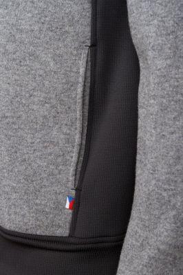 Woolcan 4.0 Hoody grey detail spodní kapsa