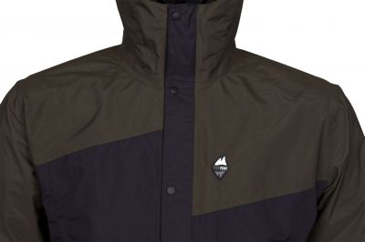 Revol Jacket dark khaki black detail