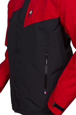 Revol Jacket red black detail kapsa
