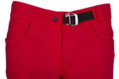 Excellent Lady Pants red detail pasek