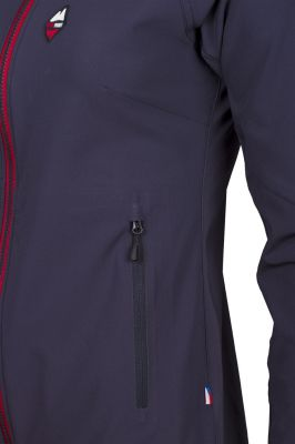 Drift 2.0 Lady Hoody Jacket carbon_red detail kapsa